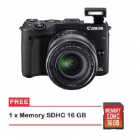 Canon EOS M3 Kit 18-55mm IS STM Free Memori 16GB
