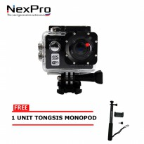 NexPro Action Camera Dream 001 (4K) 20MP WiFi Free Tongsis Monopod