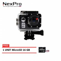 NexPro Action Camera Dream 001 (4K) 20MP WiFi Free MicroSD 16 GB