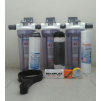 (Terbatas) Paket Filter Air Berbesi Housing Clear 10' - Eugen - Lengkap