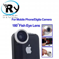 (Termurah) Fisheye Wide Angle 180 Degree Lens for iPhone 4,  Mobile Phone  Digita