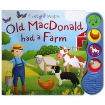 [Hellopandabooks] First Steps Old MacDonald had a Farm Sound Board Book with 4 sounds