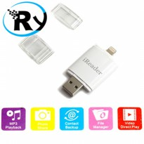 (Termurah) iReader Lightning Card Reader TF Card & Micro SD Slot - White