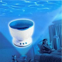 Daren Waves Lampu Tidur Proyektor Proyeksi Air Ombak Laut Speaker Ocean Projector Sleep Lamp
