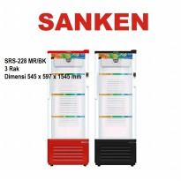 SANKEN SHOWCASE 3 RAK TYPE SRS-228 MR/BK