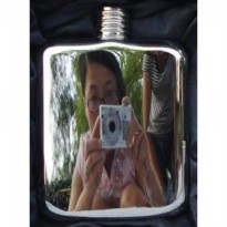 Hip Flask Ekslusif 6 oz Hand Made Mirror finishing