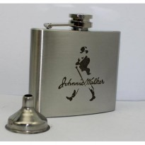 Hip Flask 5oz Johnnie Walker (- Telah Lulus Test FDA) Stainless steel