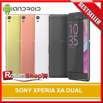 SONY XPERIA XA DUAL ORIGINAL 100% - Garansi 1THN - White, Graphite Black, Lime Gold, Rose Gold