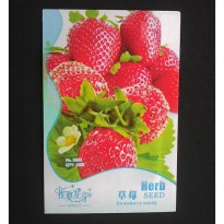 Benih Red Strawberry Organic (Fragaria Ananassa)