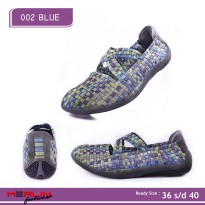 Merlin shoes-casual sneaker import-breathable-sepatu flyknit 002 blue Woman