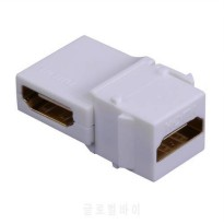 [globalbuy] 90 Degree Bending HDMI To For KEYSTONE Panel Converter Adapter HDMI Female To /5141280