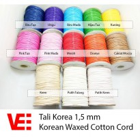 Vee Tali Korea 1,5 mm | Korean Waxed Cotton Cord 5 meter