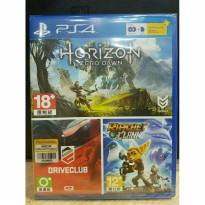 PS4 Horizon Zero Dawn- Drive Club- Ratchet & Clank Psn plus