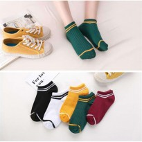 KM02 Kaos Kaki Pendek Wanita Three Line Women Low Socks