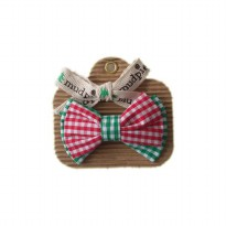 Mudpie Bowtie Spinner (6 Asst) - Red/Green Gingham #1582118-G