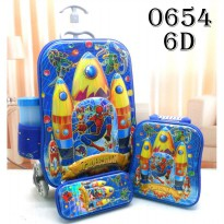 DJ fashion Tas Troli Anak 6D 4 in 1 - Spider