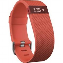 Fitbit Charge HR - Tangerine (Large) [Heart Rate Activity]