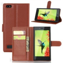 [globalbuy] BrankBass Luxury Flip Wallet Book Style PU Leather Case for blackberry leap Le/5174390