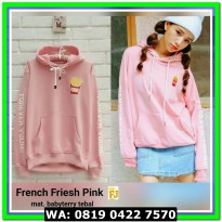 (Sweater) SWEATER FRENCH FRIES PINK