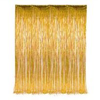 [poledit] Rhode Island Novelty 3` x 8` Gold Tinsel Foil Fringe Door Window Curtain Party D/13553583