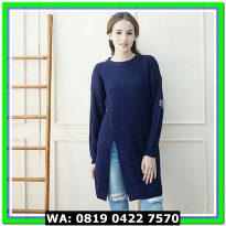 (Sweater) SLIT SWEATER NAVY
