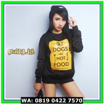 (Sweater) SWEATER WANITA DOG ARE NOT FOOD