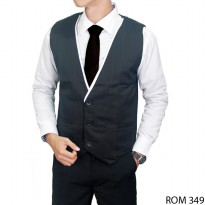 Male Formal Vest Katun Hitam – ROM 349