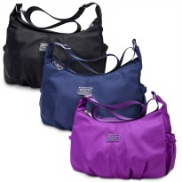 Waterproof Nylon Shoulder Bag Tas Selempang & Tote Bag Kapasitas Besar Import Korea