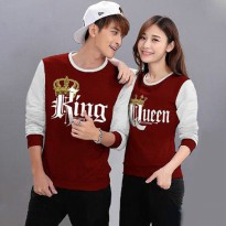 Baju Hoodie Couple Sweater Kaos Pasangan Kopel Kapel Kembar Murah King Queen