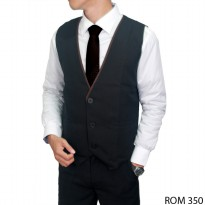 Mens Formal Vest Katun Hitam – ROM 350