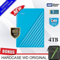 buy 1 get 1 WD My Passport NEW 4TB - Hardisk Eksternal free pouch