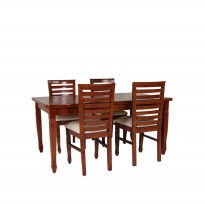 Set Meja Makan Sydney 4 Kursi Coffe Brown