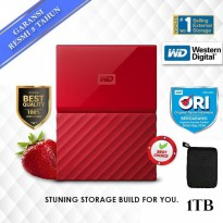 PAKET WD My Passport NEW 1TB HDD Hardisk Eksternal free POUCH