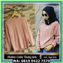 (Sweater) ANDIEN CABLE DUSTY