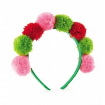 Mudpie Multi-Color Pom Pom Headband #1512144