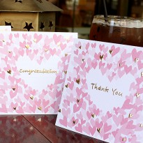 [Pepper shaker] [Wood Card - Heart Puff Square _Happy Day / multipurpose card / Happy Day / Message Card / Congratulations / Thanks / Anniversary / Pretty Car