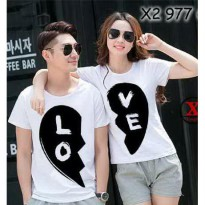 Kaos Couple / Baju Pasangan / Soulmate Cp Love White
