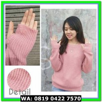 (Sweater) ROUNDHAND DUSTY PINK