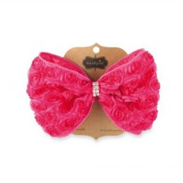 Mudpie Pink Oversized Rosette Bow #1512136
