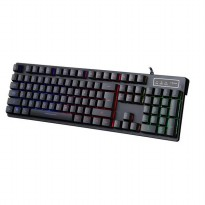 Warwolf V10 Semi Mechanical Backlight Gaming Keyboard