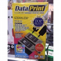 Tinta Suntik Data Print Hitam DP 40- Printer Canon atk