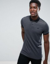 Hollister Polo Stretch Pique Icon Logo Slim Fit in Dark Gray