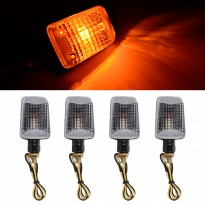 Lampu Sen 4x 12v Motorcycle Turn Signal Indicator Turning Light Bulb Amber -MA365