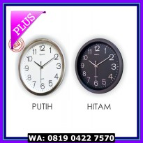 (Sale) Jam Dinding Diameter 32 CM - List Silver - BEST SELLER