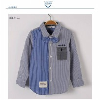 Cutevina-Boy Fashion Shirt / Kemeja Cowok + Dasi 3-9th (BC17004)