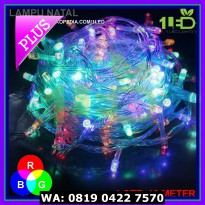 (Murah) Lampu Natal LED Warna RGB Twinkle Light hias pohon tumblr