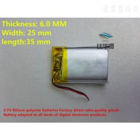 [globalbuy] ()(5pieces/lot)Polymer lithium ion battery 3.7 V, 602535 062535 CE FCC ROHS MS/5539926