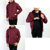 SW JAKET CASUAL PRIA RED