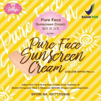 Jellys Pure Sunscreen Cream / Sudah BPOM / Original 100%