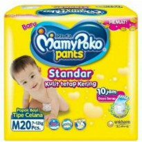 DIAPERS MAMYPOKO CELANA STANDAR SIZE M ISI 20